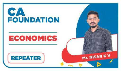 CA Foundation Repeater Economics by Nizar K V