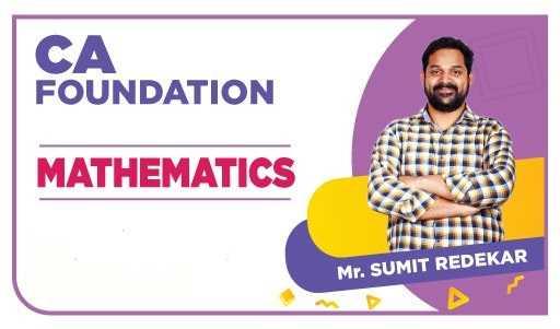 CA Foundation Math By Sumit Redekkar