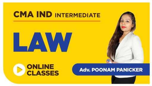 Old Batch - CMA India Intermediate - Law by Adv Poonam Panicker
