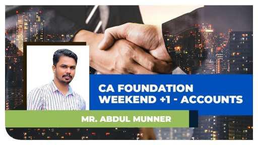 CA Weekend +1 - May 2023 Accounting By Abdul Muneer