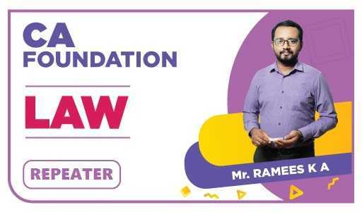 CA Foundation Repeater law by Ramees K A