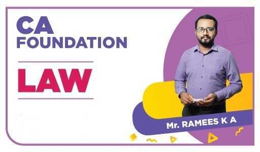 CA Foundation Law by Ramees K A