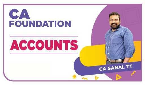 CA Foundation Accounts by CA Sanal T T